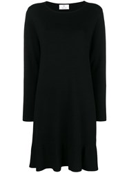 Allude Midi Knitted Dress Black