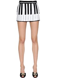 Dolce And Gabbana Piano Sequined Mini Skirt