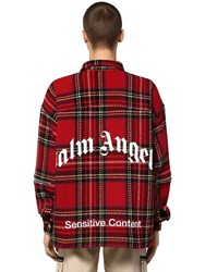 Palm Angels Check Zip Shirt Wool Jacket W Patch Multicolor