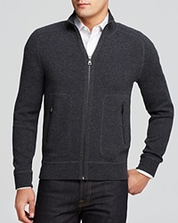 The Men's Store At Bloomingdale's Long Sleeve Zip Cardigan Bloomingdale's Exclusive Grey Steel Blue