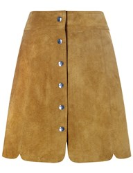 Etoile Isabel Marant Tan Suede Anna Mini Skirt Brown
