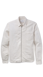 Our Legacy Coated Linen Shirt Jacket White