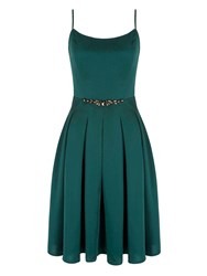 Yumi Strappy Prom Dress With Diamantes Green