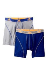 Adidas Sport Performance Climalite Boxer Brief Pack Of 2 Blue