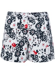 Thom Browne Floral Swim Shorts Men Nylon 3 White