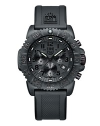 Luminox 44Mm Navy Seal 3080 Series Colormark Chronograph Watch Black