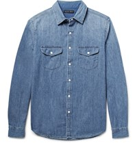 Alex Mill Slim Fit Denim Shirt Mid Denim