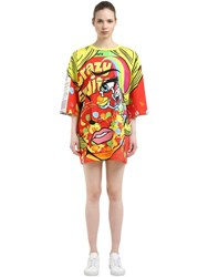Moschino Eyes Oversized Jersey T Shirt Dress Multicolor