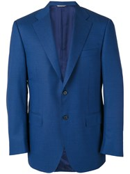 Canali Formal Blazer Men Cupro Wool 52 Blue