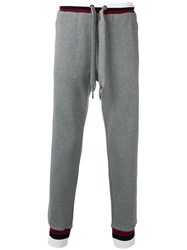 Dolce And Gabbana Embroidered Crown Track Pants Grey