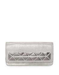 Vince Camuto Fit Leather Continental Wallet New Silver