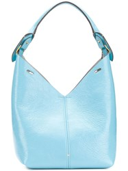 Anya Hindmarch Build A Bag Small In Aquamarine Naplak Blue