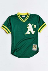 Mitchell And Ness All Star Rickey Henderson Baseball Tee Green