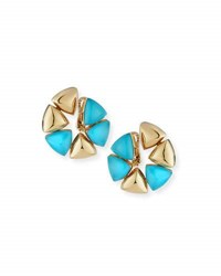 Vhernier Turquoise Rock Crystal Clip On Earrings