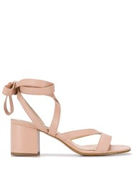 Fabio Rusconi Wrapped Ankle Sandals Neutrals