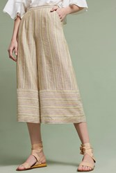 Anthropologie Outland Wide Legs Yellow Motif
