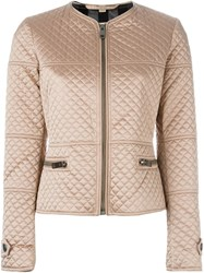 Burberry Brit Quilted Jacket Pink And Purple