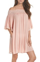 Muche Et Muchette Rimini Crochet Cover Up Dress Pink
