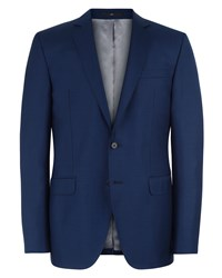 Jaeger Wool Basketweave Slim Jacket French Navy