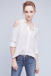 Anthropologie Regan Open Shoulder Buttondown White