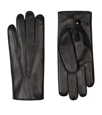 Harrods Of London Rabbit Fur Lined Leather Gloves Unisex