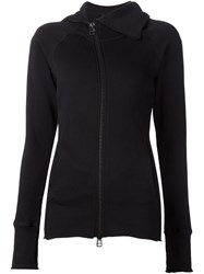 Barbara I Gongini Zip Hooded Cardigan Black