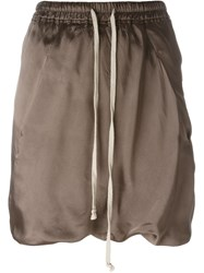 Rick Owens Drop Crotch Track Shorts Nude And Neutrals