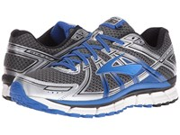 Brooks Adrenaline Gts 17 Anthracite Electric Blue Silver Men's Running Shoes Black