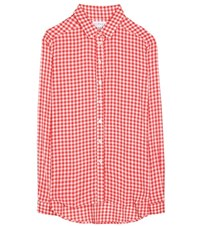 Velvet Ruthann Plaid Shirt Red