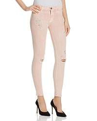 Hudson Skinny Jeans In Sunkissed Pink