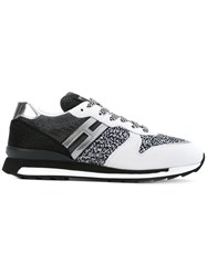 Hogan Rebel Low Top Lace Up Sneakers Women Cotton Leather Polyester Rubber 38 White