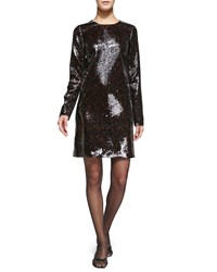 Marc Jacobs Long Sleeve Sequined Shift Dress Women's