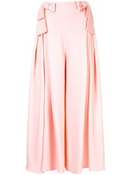 Delpozo Bow Detail Palazzo Trousers Pink