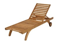Barlow Tyrie Capri Teak Lounger Standard None Light Brown