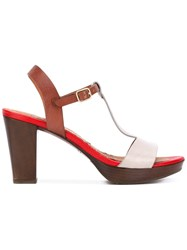 Chie Mihara Contrast Sandals Women Leather Foam Rubber 41 Brown