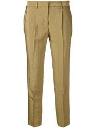 Incotex Slim Fit Trousers Yellow Orange