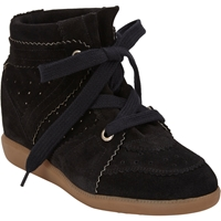 Isabel Marant Bobby Hidden Wedge Sneakers Black
