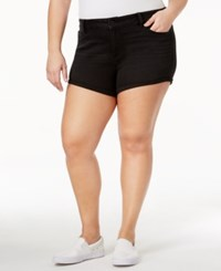 American Rag Trendy Plus Size Ripped Denim Shorts Only At Macy's Black Wash