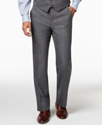Alfani Red Traveler Grey Solid Slim Fit Suit Pants Only At Macy's