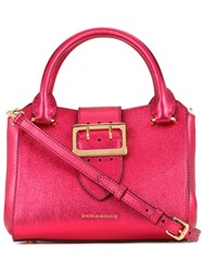 Burberry Buckled Frame Tote Red