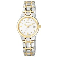 Citizen Ew1264 50A Women's Eco Drive Two Tone Bracelet Strap Watch Gold Silver