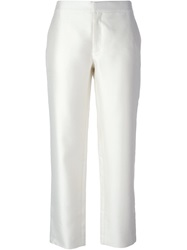 Raoul Straight Leg Trousers White