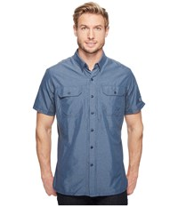Kuhl Airspeed Short Sleeve Top Pirate Blue Men's Short Sleeve Button Up