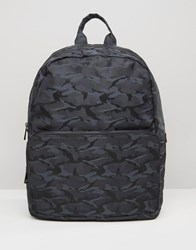 Asos Backpack In Camo Black