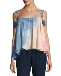 Young Fabulous And Broke Indi Tassel Tie Ombre Swing Top Multi