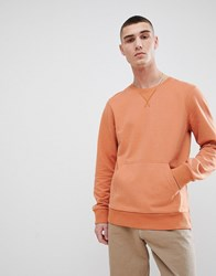 Another Influence Crew Neck Front Pocket Sweat Brown