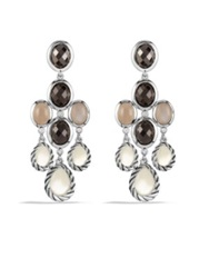 David Yurman Grisaille Chandelier Earrings With Moon Quartz And Black Onyx Silver