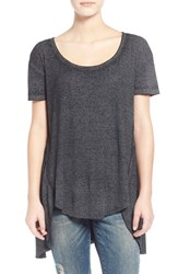 Junior Women's Sun And Shadow 'Circle' High Low Tee