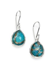 Ippolita Bronze Turquoise Clear Quartz And Sterling Silver Earrings