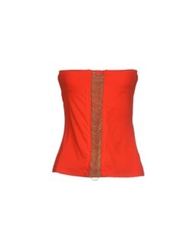 Plein Sud Jeans Plein Sud Tube Tops Red